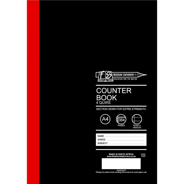 Hard Covers A4 Counter Books - Stitched & Glued