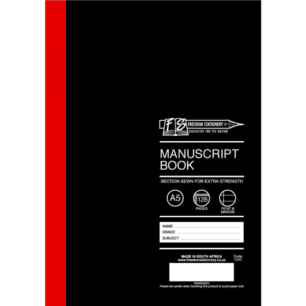 Hard Covers A5 Manuscript Books - Stitched & Glued