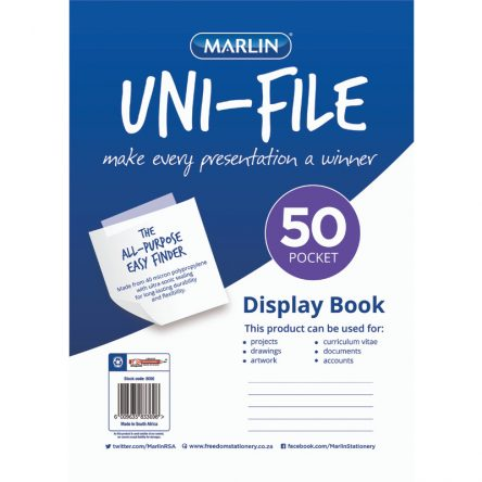 Uni-File Display Books 50 Pocket